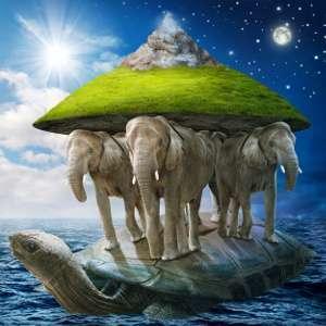Мир держится на трех слонах