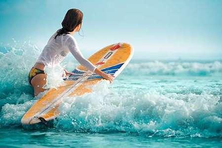Серфинг, отдых на море