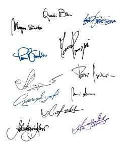 Подписи разных людей