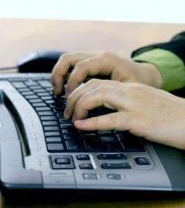 Набор на клавиатуре