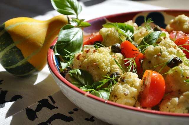 из капусты, томатов, огурцов и зелени