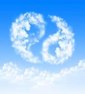 Облака в виде китайского символа инь-янь