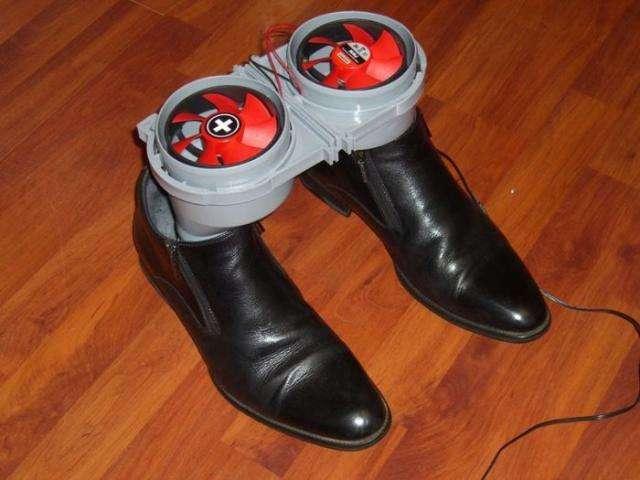 Креативна сушка для взуття своїми руками (10 фото)