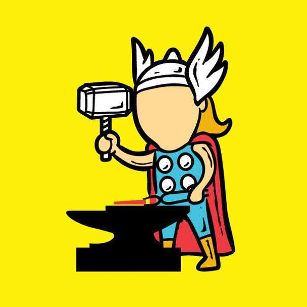 Супергерої в звичайному житті (23 фото)